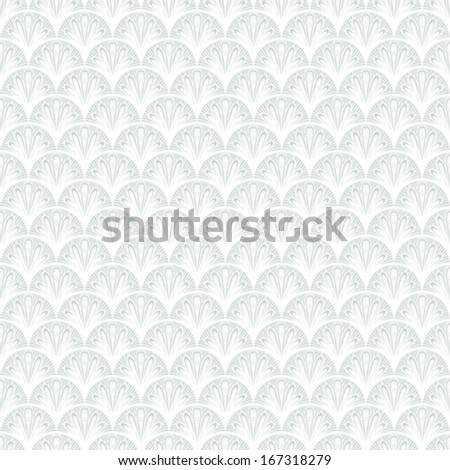 Art deco vector geometric pattern in silver white. Seamless texture for web, print, wallpaper, Christmas gift wrapping, home decor, winter fashion, wedding invitation background, textile design - stock vector