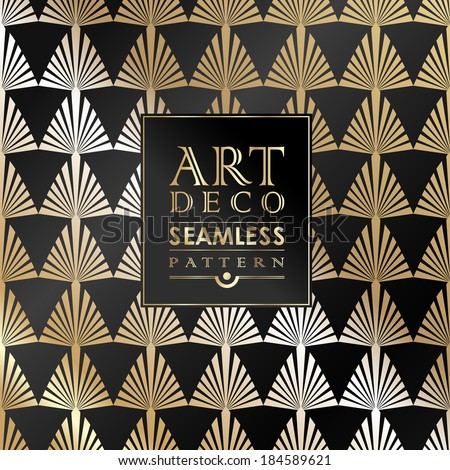 Art deco pattern stock photos images pictures shutterstock - Papier peint art deco ...