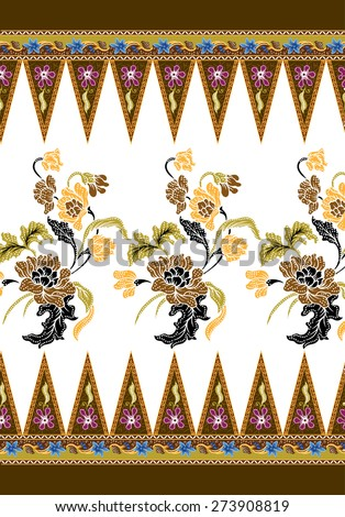 Art design background vintage fabric. - stock vector