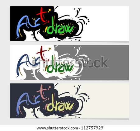 Art draw card - stock vector