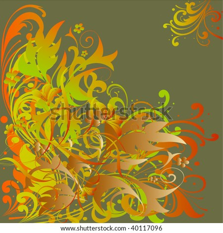 art floral background