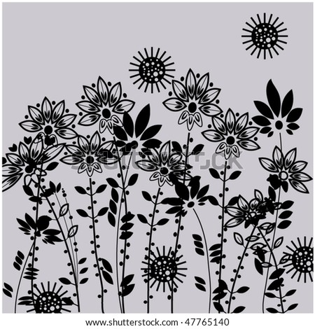 art floral drawing graphic background