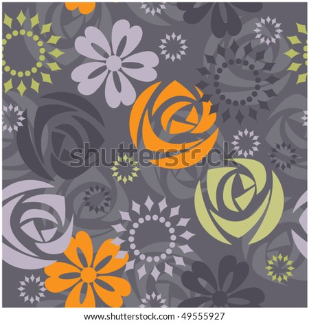 art floral drawing graphic background - stock vector