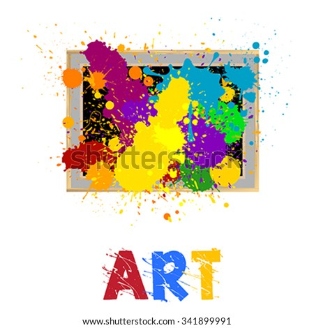 art frame with abstract design - stock vector