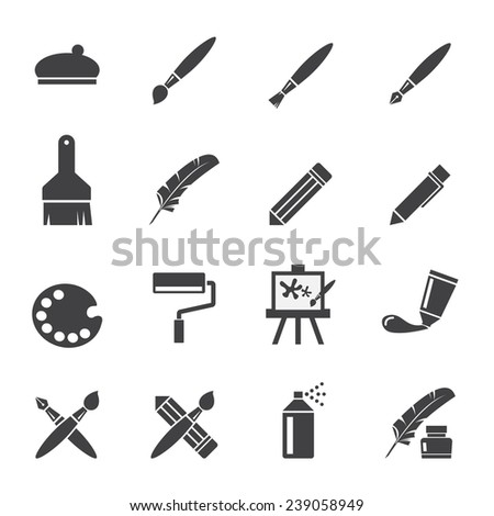 art icon set - stock vector