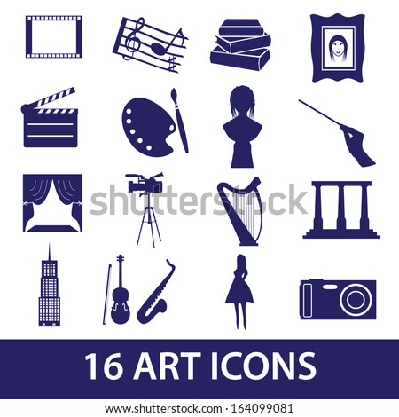 art icons set eps10 - stock vector