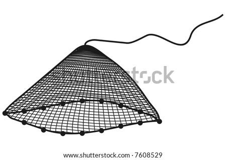 art illustation of a net in black and white - stock vector