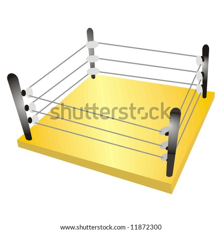 art illustration of a boxing ring
