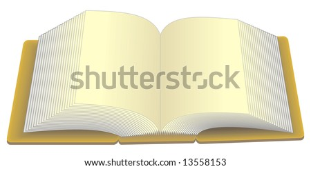 art illustration of an opened book