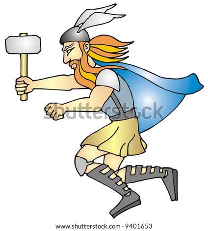art illustration thor god thunder stock vector 9401653 shutterstock rh shutterstock com