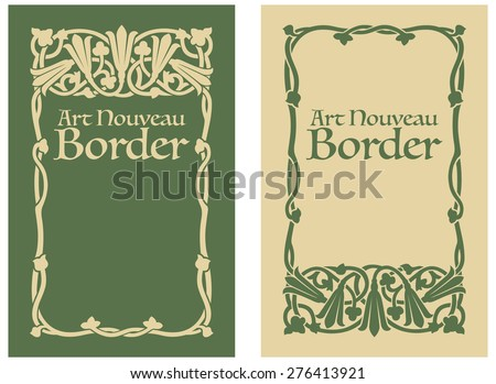 Art Nouveau Floral Border - stock vector