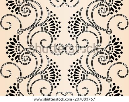 art nouveau seamless pattern stock vector royalty free 207083767