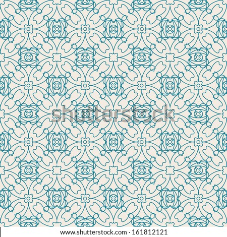 art-nouveau winter pattern - stock vector
