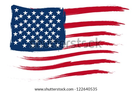 Art of united states flag - stock vector