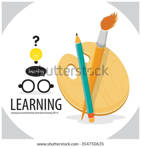 Art paint learn concept - stock vector