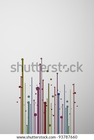 Art painting - stock vector