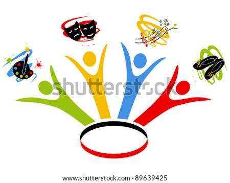 art school design - stock vector