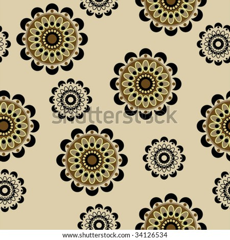 art seamless ornamental floral vintage  pattern