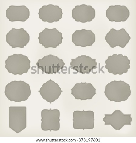 art set of vector vintage frame lable. template for retro design. leather texture. vector - stock vector