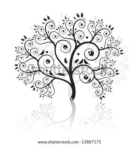 Art tree beautiful - stock vector