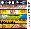 art vector banners - stock vector