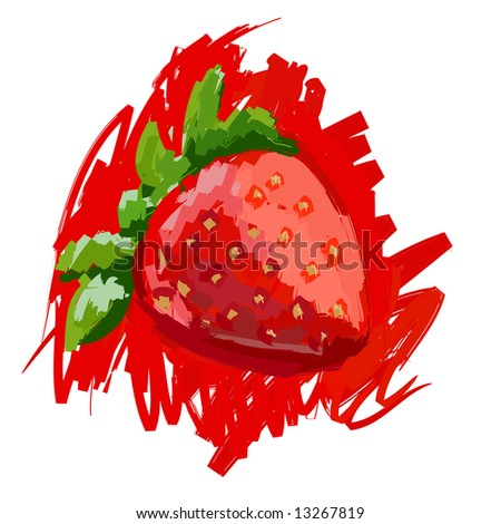 Art. Vector illustration of strawberry - stock vector