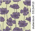 art vintage floral seamless pattern background in art deco style - stock vector