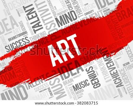 ART word cloud, business concept - stock vector
