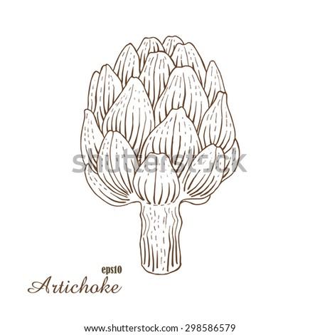 how to draw an artichoke