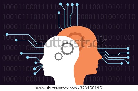 artificial intelligence - stock vector
