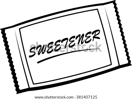 artificial sweetener packet - stock vector