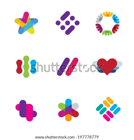 Artist creative process logo illustration inspiration company logo symbol icons - stock vector
