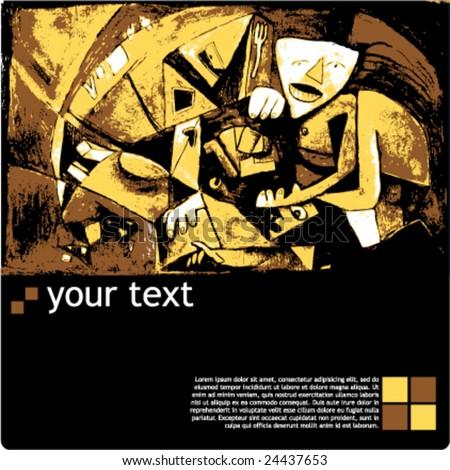 artist exhibition template - stock vector