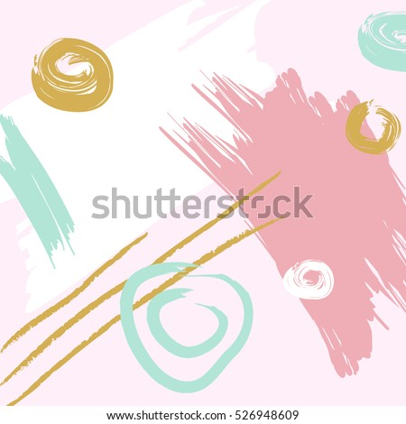 Artistic abstract colorful background. Hand Drawn texture. Trendy design poster, cover, card design. Vector illustration.