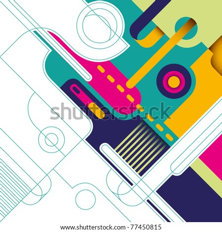 Artistic background with colorful abstract composition. Vector illustration. - stock vector