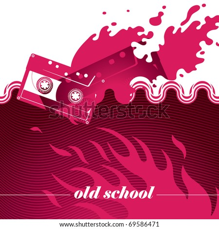 Artistic banner with modern designed graphics. Vector illustration. - stock vector