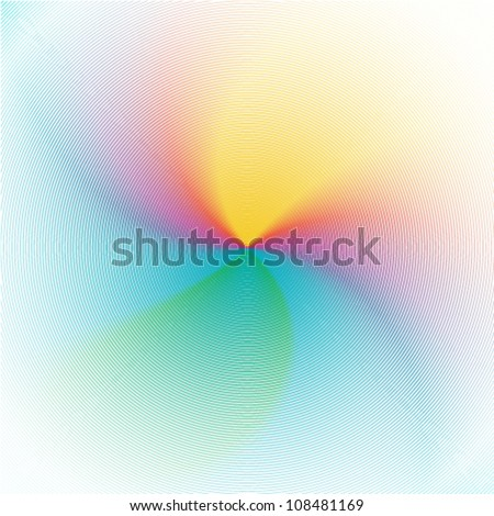 artistic beautiful rainbow background - stock vector