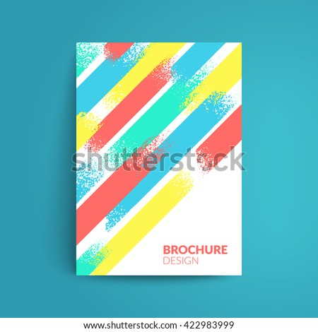 Artistic cover design. A4 format template for brochure,poster,flyer etc. - stock vector