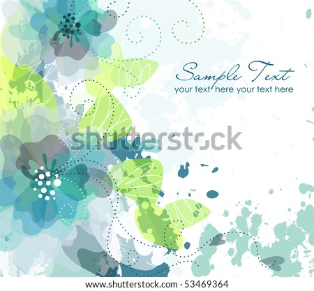 Artistic flower background - stock vector
