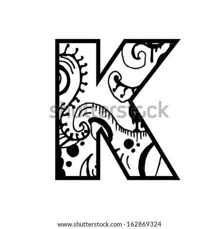 Artistic Font Letter Modern Shapes Stock Vector 162869324