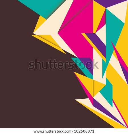 Artistic illustrated abstraction. Vector illustration. - stock vector