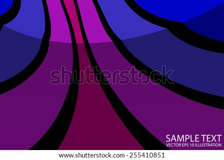 Artistic lined abstract background illustration - Vector striped  abstract  background  template - stock vector