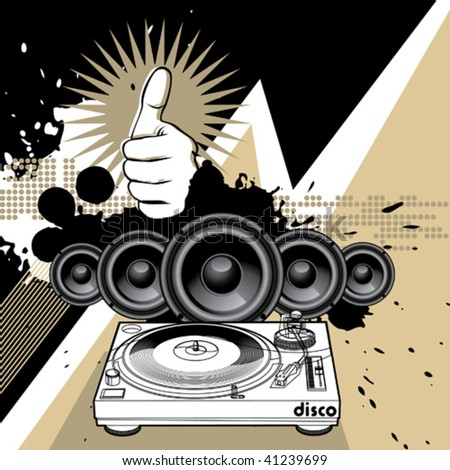 Artistic modern music background. Vector illustration.