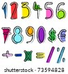 Artistic numbers - stock vector