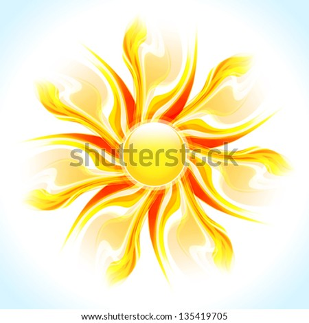 Artistic sunshine. Vector - stock vector