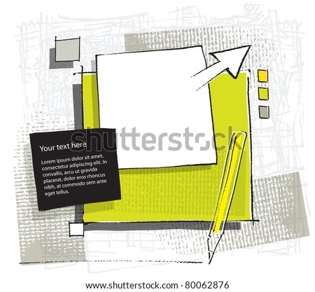 artistic variable background, vector - stock vector