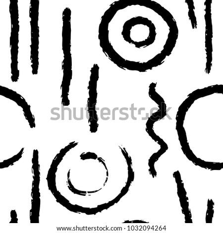 Artistic Wabi Sabi Seamless Background Hand Stock Vector Royalty