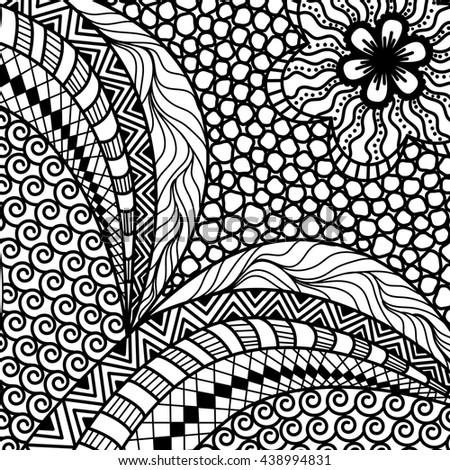 Artistically ethnic pattern. doodle, zentangle tribal design element - stock vector