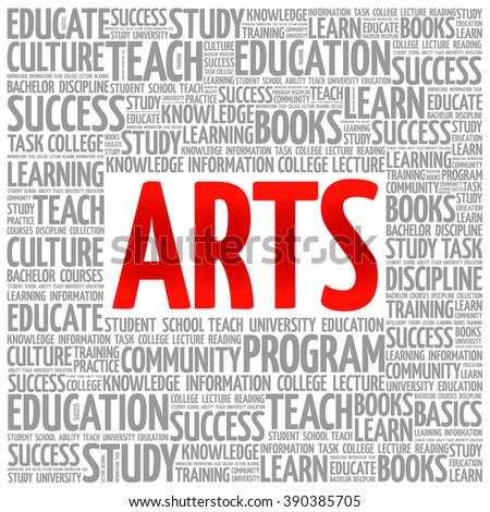 ARTS word cloud, education concept background - stock vector