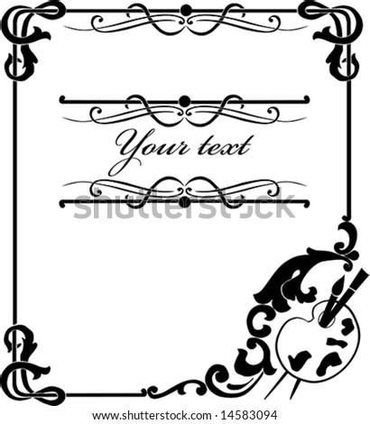 Artwork vector frame with banner for design